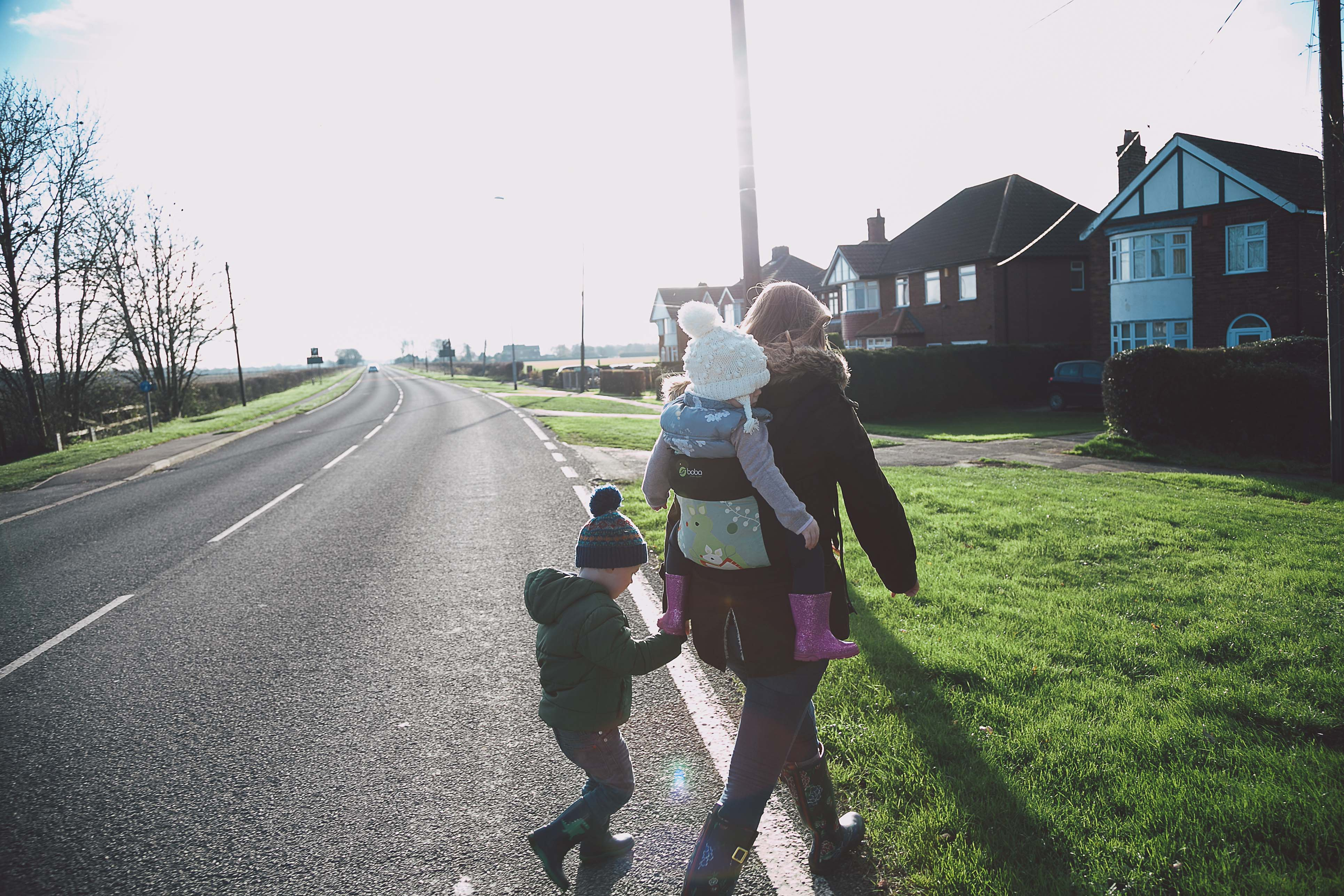 A Family walk down Viking Way, Lincoln. Used as the featured image